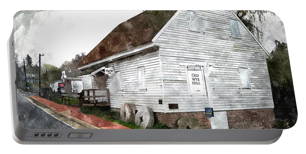 2d Portable Battery Charger featuring the photograph Wye Mill - Water Color Effect by Brian Wallace