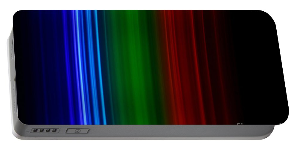 Atomic Portable Battery Charger featuring the photograph Xenon Spectra by Ted Kinsman