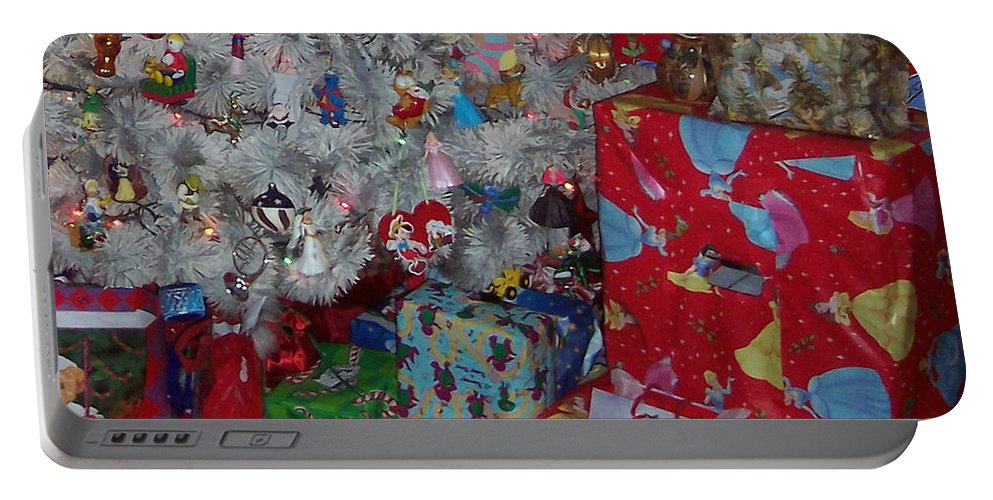 Xmas Portable Battery Charger featuring the photograph Xmas Presents 03 by Thomas Woolworth