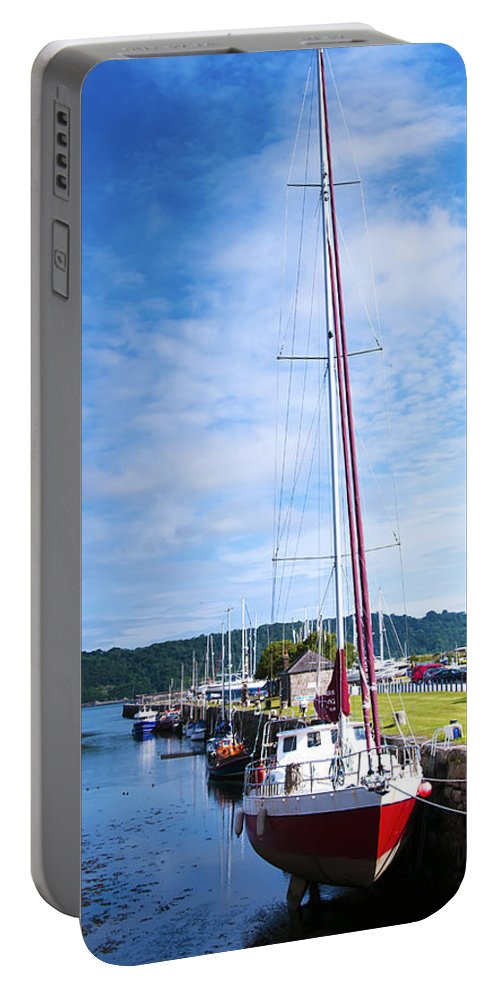 Yacht Portable Battery Charger featuring the photograph Yacht by Svetlana Sewell