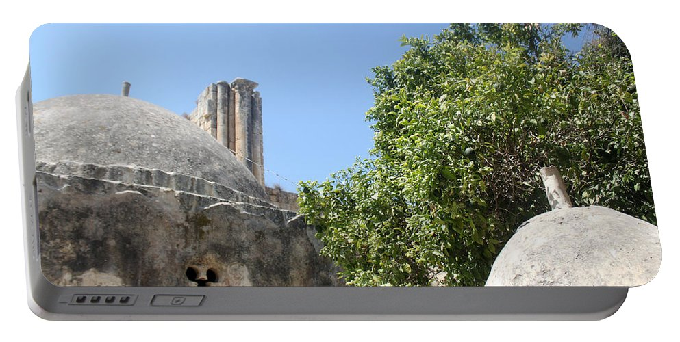 Yahya Portable Battery Charger featuring the photograph Yahya Mosque In Sebastia by Munir Alawi