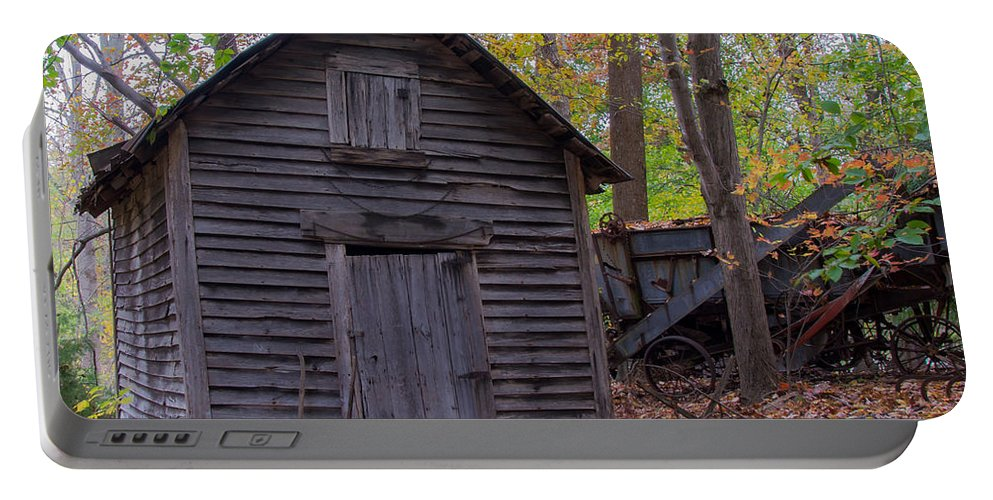 Old Portable Battery Charger featuring the photograph Ye Olde Shed by Scott Hervieux