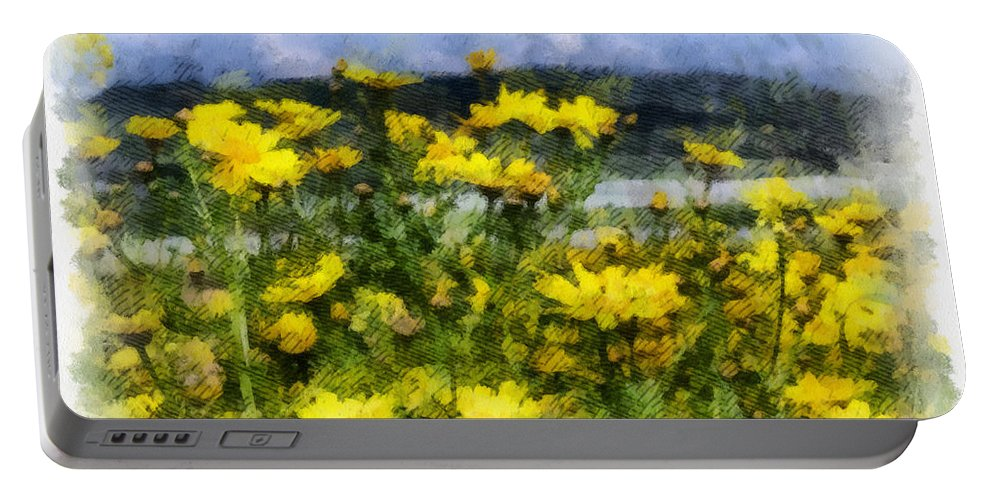 Landscape Portable Battery Charger featuring the photograph Yellow Landscape by Michael Goyberg