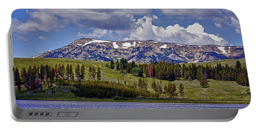 Yellowstone National Park Portable Battery Charger featuring the photograph Yellowstone National Park by Linda Dunn
