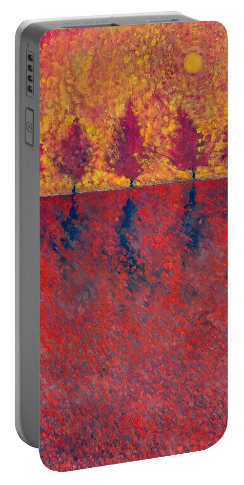 Colour Portable Battery Charger featuring the painting Yet A Bit Light by Wojtek Kowalski