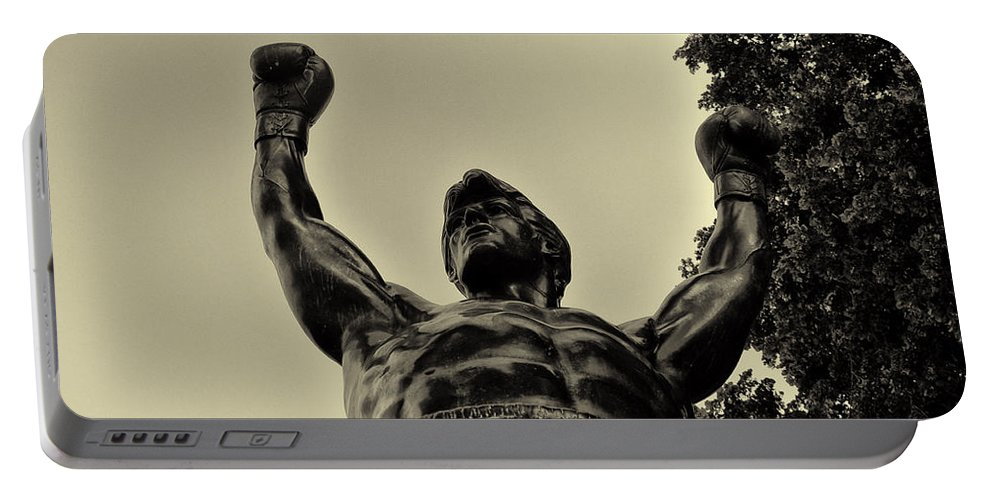 Rocky Portable Battery Charger featuring the photograph Yo Rocky by Bill Cannon