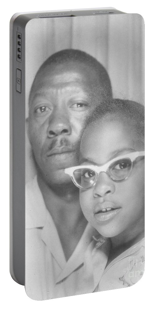 Portable Battery Charger featuring the photograph Young Angela With Her Dad by Angela L Walker