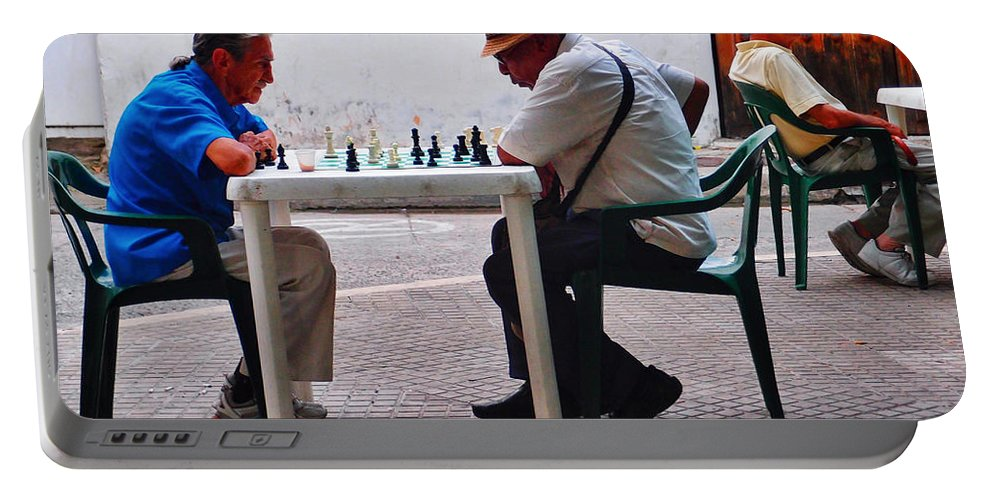 Your Move Portable Battery Charger featuring the photograph Your Move by Skip Hunt