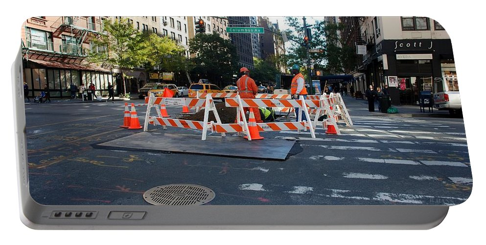 Colors Portable Battery Charger featuring the photograph Your Tax Dollars At Work by Rob Hans