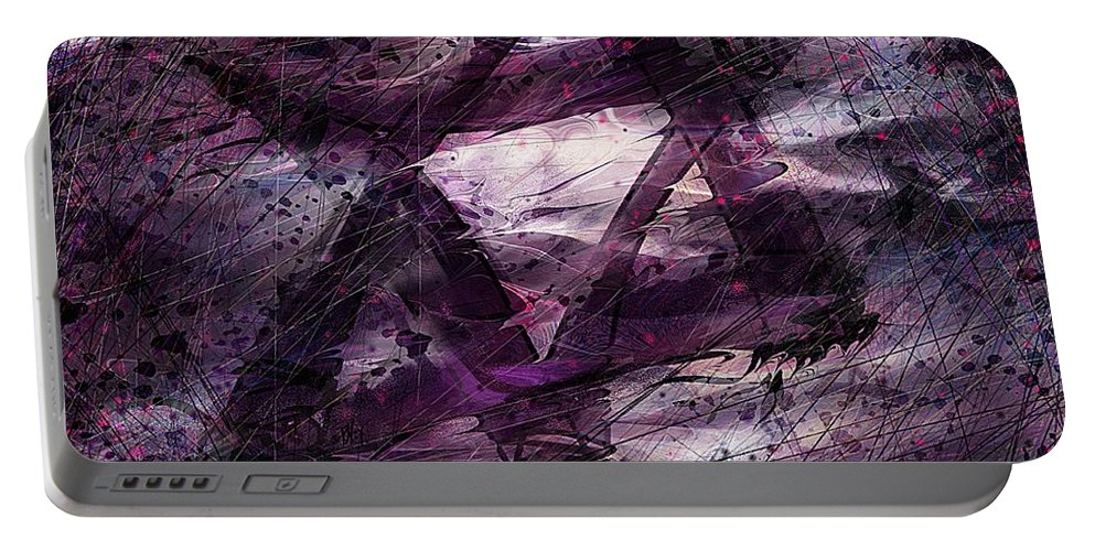 Abstract Portable Battery Charger featuring the digital art . . . when we remembered Zion by William Russell Nowicki