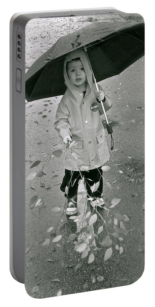 Rain Portable Battery Charger featuring the photograph ... Another Rainy Day by Gwyn Newcombe