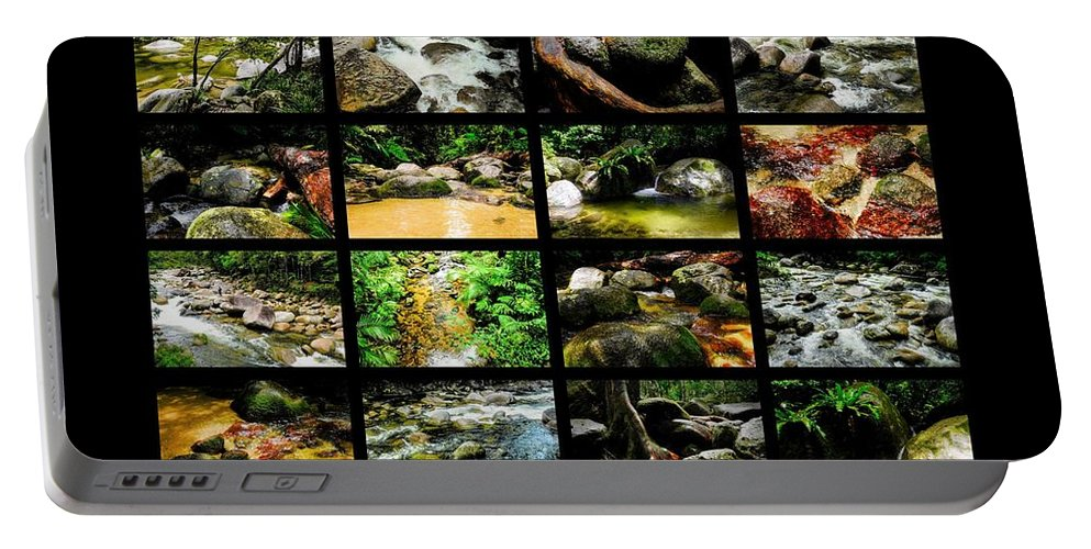 ' Australia Rocks ' Series By Lexa Harpell Portable Battery Charger featuring the photograph ' Australia Rocks ' Mossman Gorge - North Queensland by Lexa Harpell