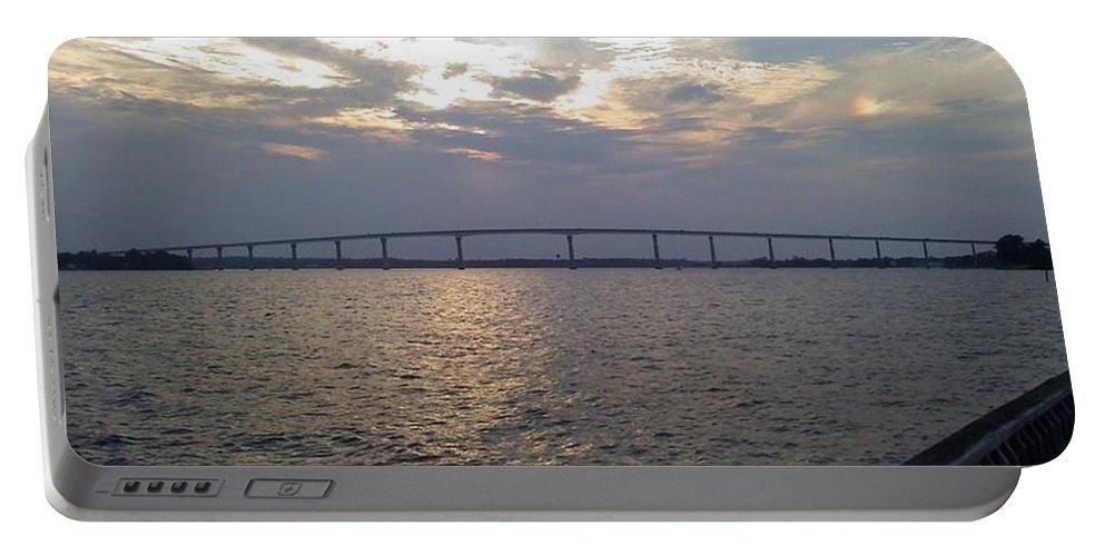 Bridge Portable Battery Charger featuring the photograph Gov Thomas Johnson Bridge by Jimmy Clark