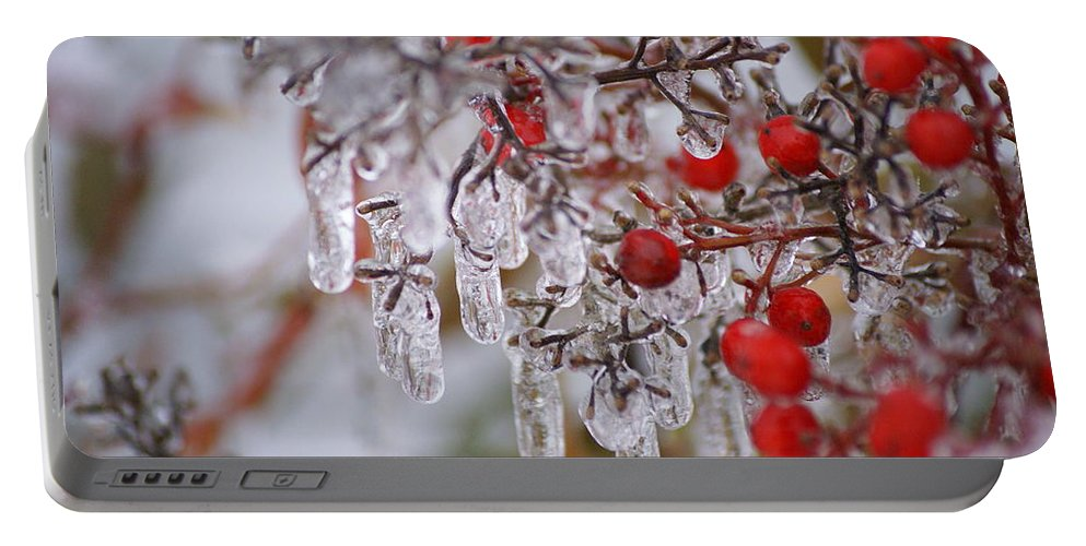 Winter Portable Battery Charger featuring the photograph Holiday Ice by Heidi Poulin