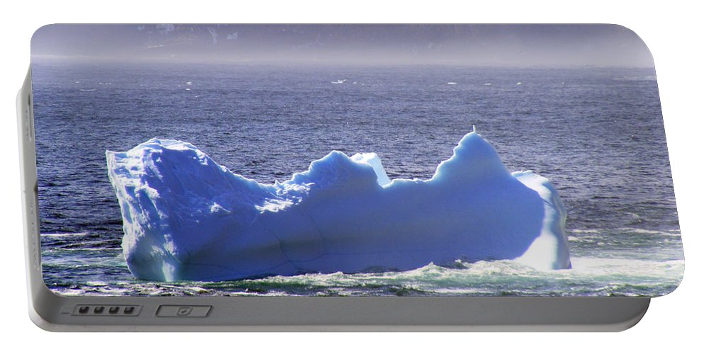 Icebergs Portable Battery Charger featuring the photograph Iceberg Floating By by Barbara Griffin