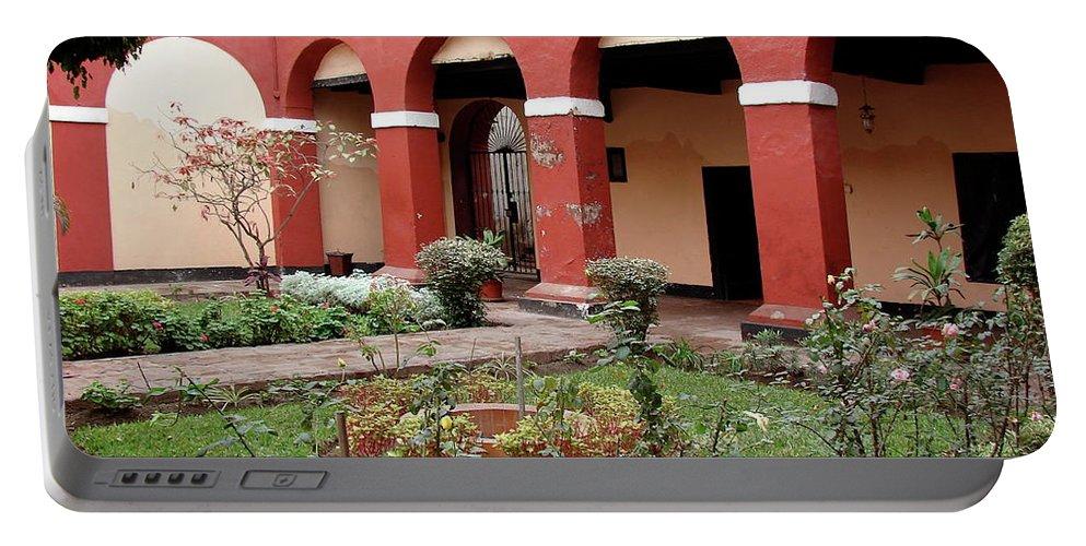 Lima Portable Battery Charger featuring the photograph Lima Peru Garden by Brett Winn