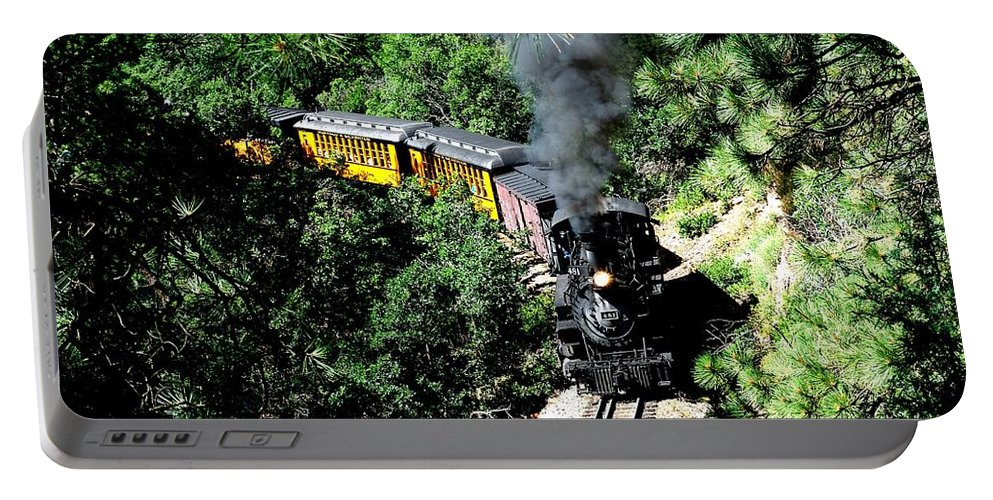 Train Portable Battery Charger featuring the photograph Nostalgic Moments by Carol Milisen
