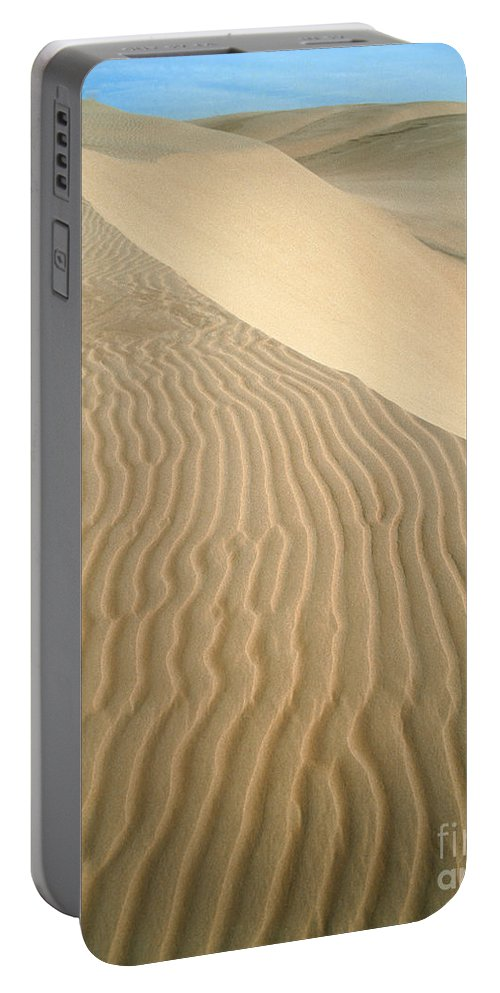California Portable Battery Charger featuring the photograph Pismo Dunes by Tracy Knauer