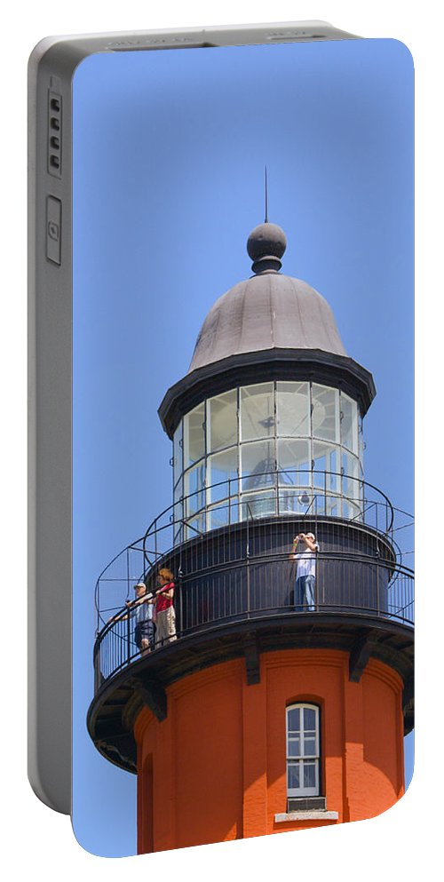 Ponce; De; Leon; Lighthouse; Light; House; Beacon; Navigation; Aid; Lens; Fresnel; Mosquito; Florida Portable Battery Charger featuring the photograph Ponce De Leon Inlet Lighthouse by Allan Hughes