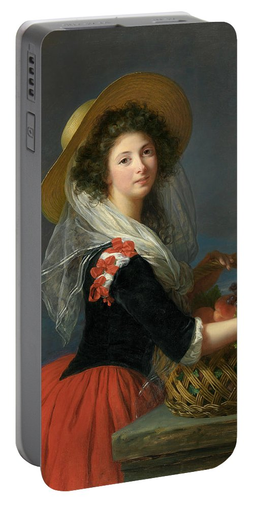 French Artist Portable Battery Charger featuring the painting Portrait Of Marie Gabrielle De Gramont, Duchesse De Caderousse by Louise Elisabeth Vigee Le Brun