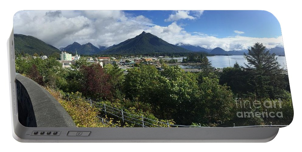 Sitka Portable Battery Charger featuring the photograph View From Top Of Castle Hill Sitka Alaska 2015 by California Views Archives Mr Pat Hathaway Archives