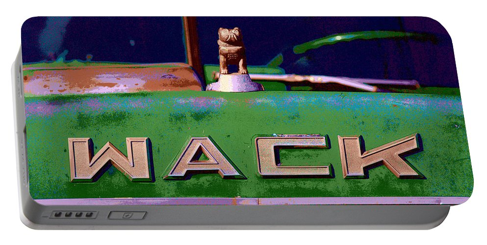 Truck Portable Battery Charger featuring the photograph Wack Truck by William Jobes