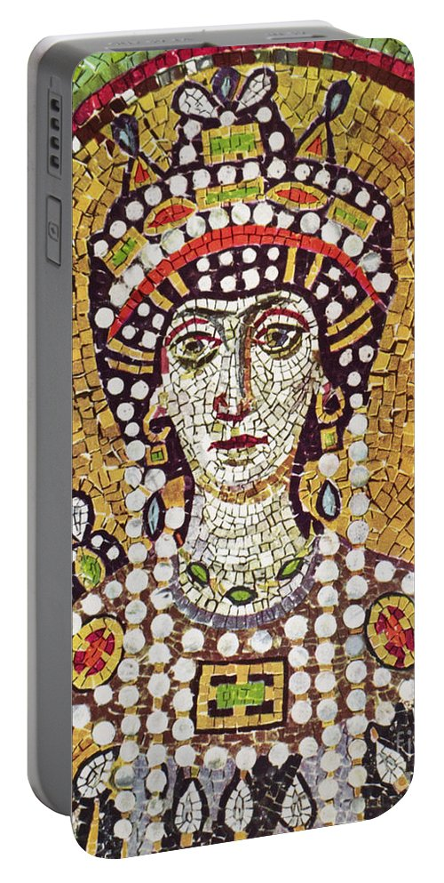 6th Century Portable Battery Charger featuring the painting Theodora (c508-548) by Granger