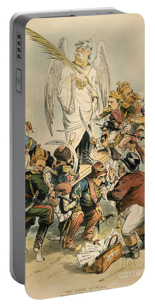 1886 Portable Battery Charger featuring the painting Otto Von Bismarck by Granger