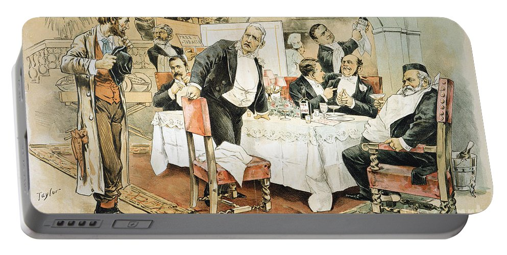 1888 Portable Battery Charger featuring the painting Populist Movement by Granger