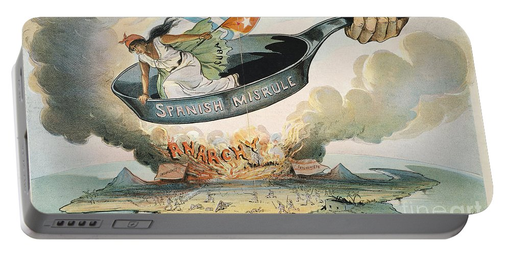1898 Portable Battery Charger featuring the painting Spanish-american War, 1898 by Granger