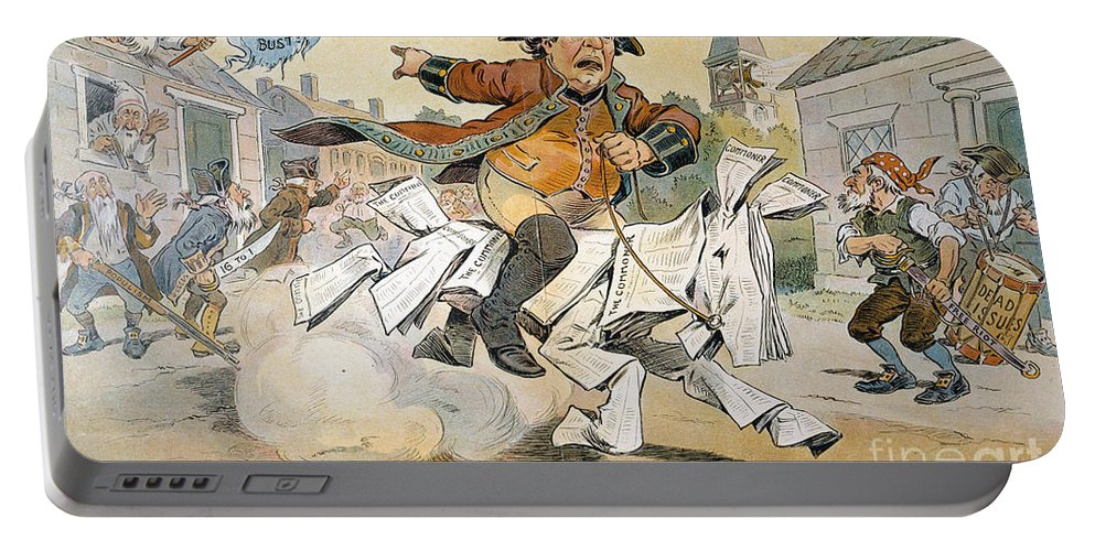 1904 Portable Battery Charger featuring the painting Populist Party Cartoon by Granger