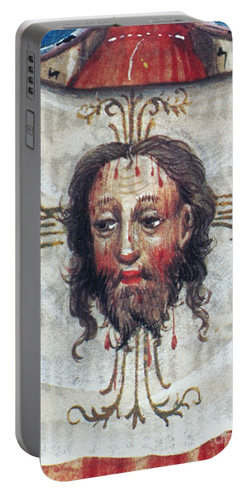 15th Century Portable Battery Charger featuring the painting Veronica's Veil by Granger