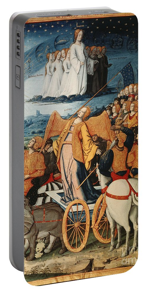 14th Century Portable Battery Charger featuring the painting Illumination: Petrarch by Granger