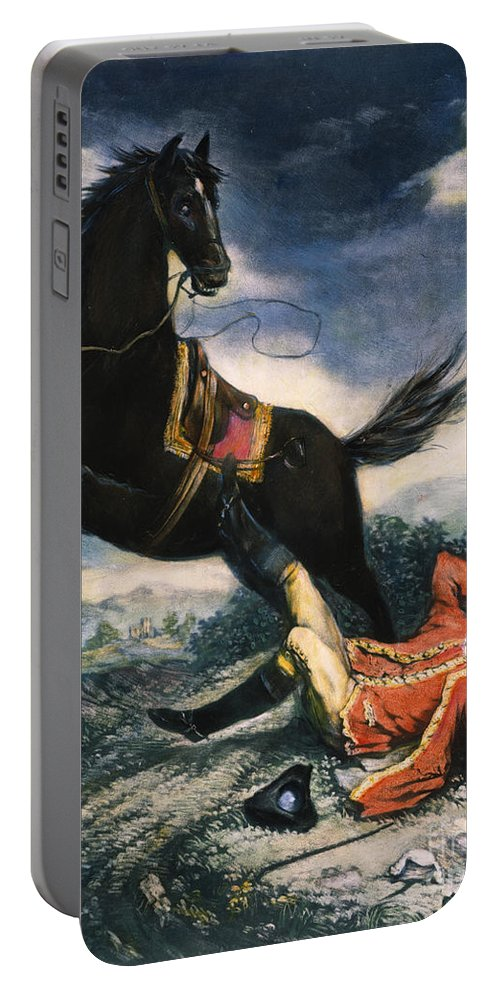 1774 Portable Battery Charger featuring the painting Cartoon: Thomas Gage, 1774 by Granger