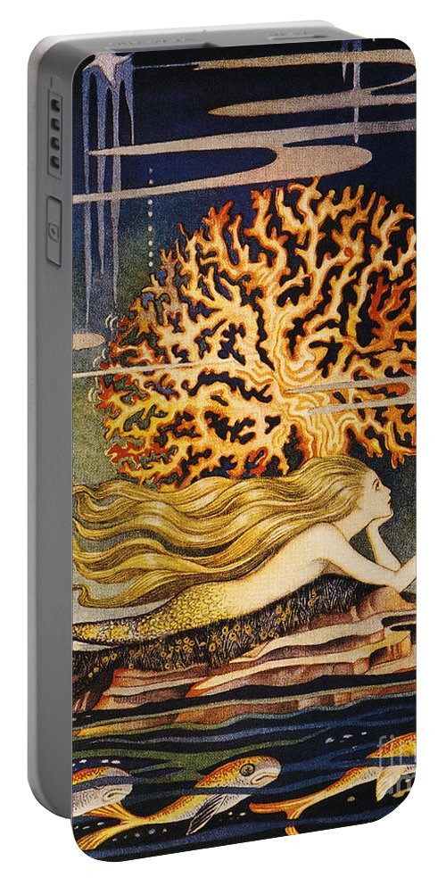 1932 Portable Battery Charger featuring the painting Andersen: Little Mermaid by Granger