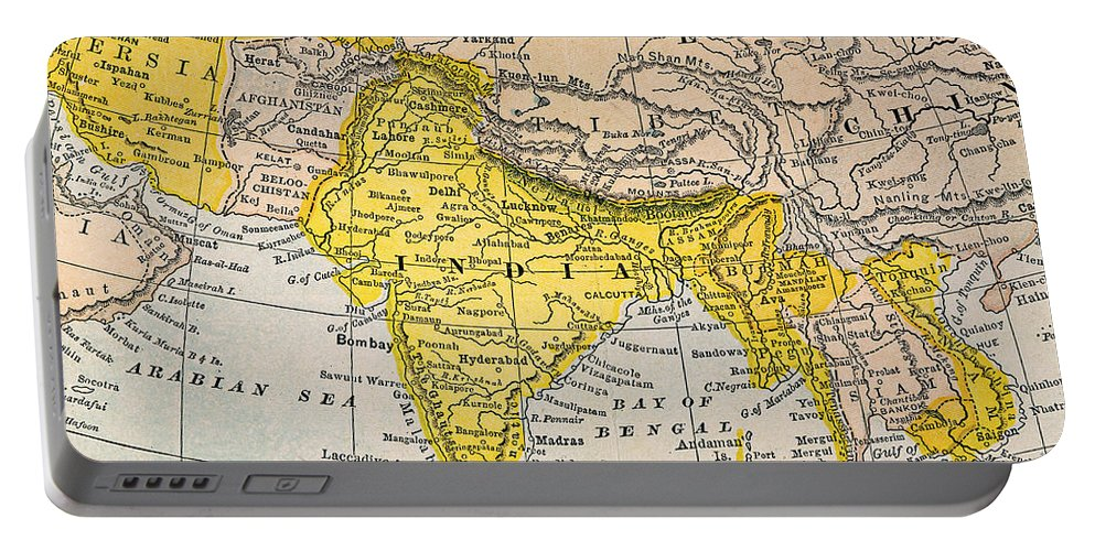19th Century Portable Battery Charger featuring the painting Asia Map, 19th Century by Granger