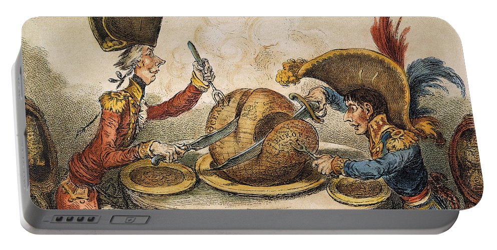 1805 Portable Battery Charger featuring the painting Napoleon Cartoon, 1805 by Granger