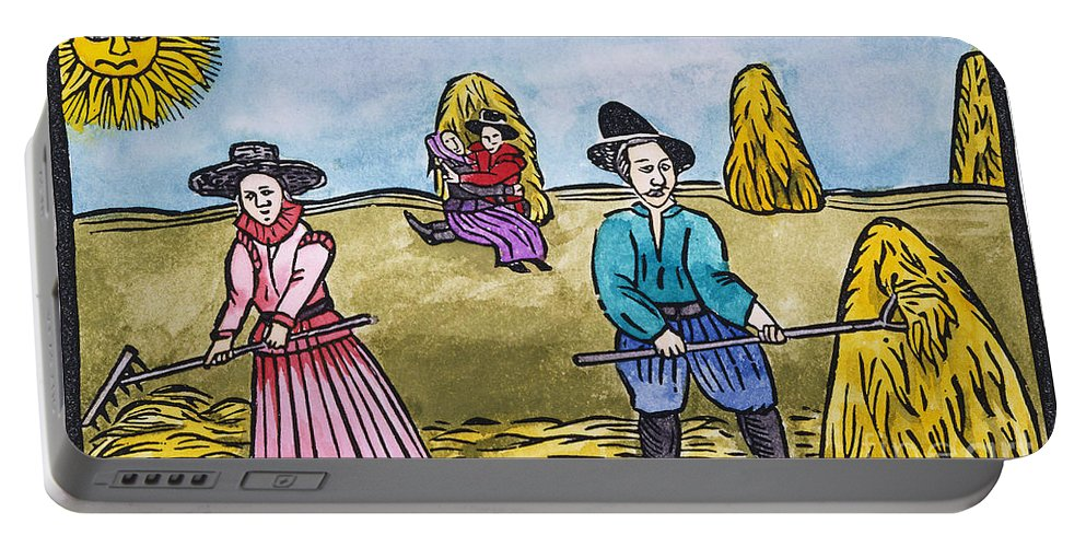 Aod Portable Battery Charger featuring the painting Love Among Haystacks by Granger