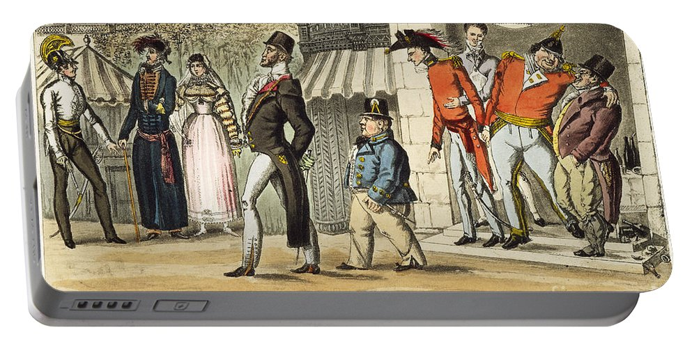 1814 Portable Battery Charger featuring the painting Paris Occupation, 1814 by Granger