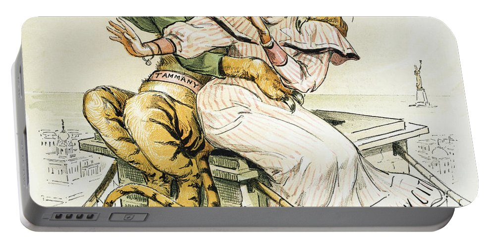 1893 Portable Battery Charger featuring the painting Political Cartoon by Granger