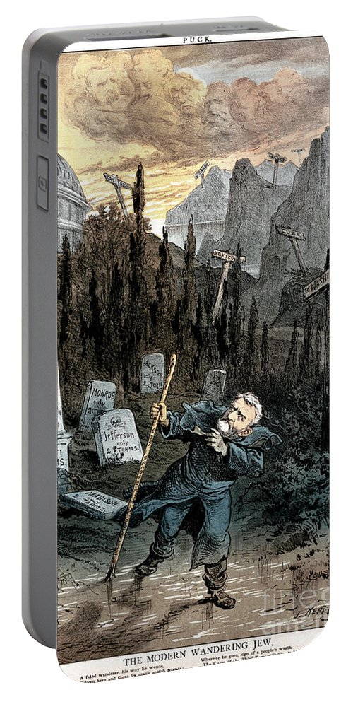 1880 Portable Battery Charger featuring the painting Grant Cartoon, 1880 by Granger