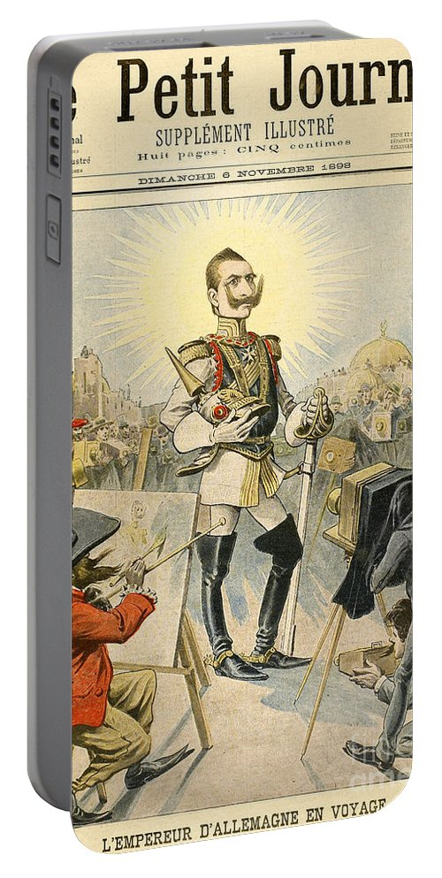 1898 Portable Battery Charger featuring the painting William II Of Germany by Granger