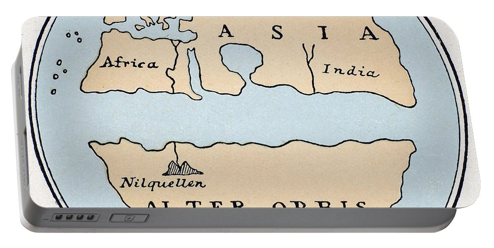 1st Century Portable Battery Charger featuring the painting World Map, 1st Century by Granger