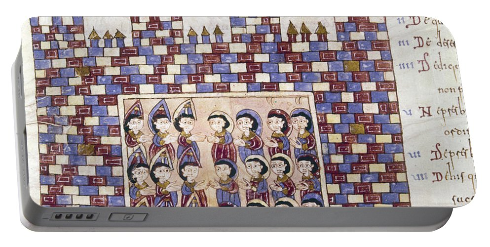 10th Century Portable Battery Charger featuring the painting Spain: Reconquest by Granger