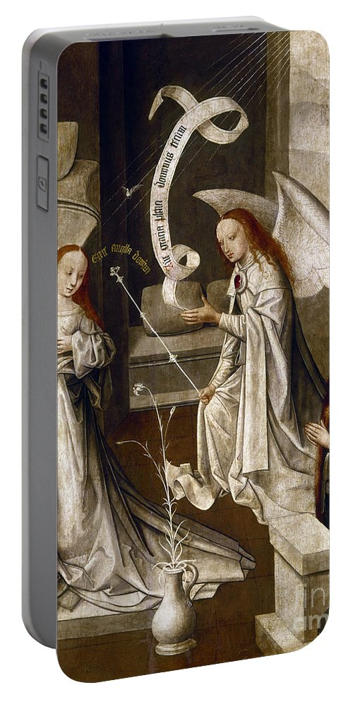 1470 Portable Battery Charger featuring the painting Spain: Annunciation, C1500 by Granger