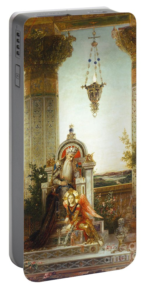 19th Century Portable Battery Charger featuring the painting Moreau: King David by Granger