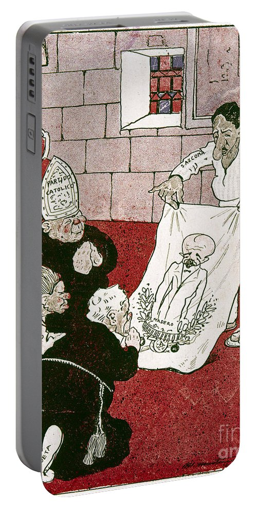 1910s Portable Battery Charger featuring the painting Mexico: Political Cartoon by Granger