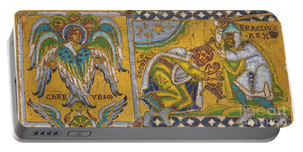 13th Century Portable Battery Charger featuring the painting Heraclius (c575-641 A.d.) by Granger