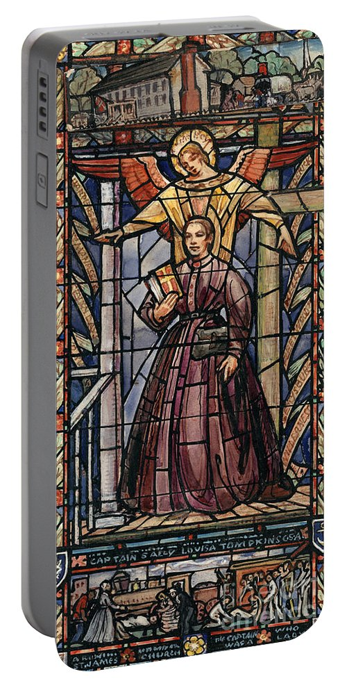 19th Century Portable Battery Charger featuring the painting Sally Tompkins (1833-1916) by Granger