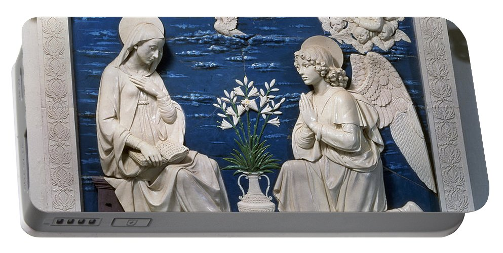 15th Century Portable Battery Charger featuring the painting Della Robbia: Annunciation by Granger